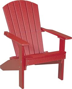LuxCraft Recycled Plastic Lakeside Adirondack Chair - Outdoorsrockingchair.com