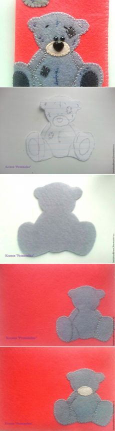 Master of the felt cover for a passport - Fair Masters - handmade, handmade