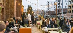 A popular movie festival is showing 3 movies outside for free as a preview event.    Konepajan Bruno is an old factory space, now functioning as a flea market/event/rave venue.    Food and drinks can be bought on site.