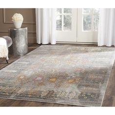 Safavieh Valencia Grey/ Multi Distressed Silky Polyester Rug (8' x 10') - Free Shipping Today - Overstock.com - 17366735 - Mobile