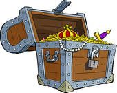 """Stock ilustrace """"Treasure Chest On White Background Raster"""" 114935215 Buried Treasure, Treasure Boxes, Treasure Chest, Writing Corner, Dyi Crafts, Stock Art, Painted Boxes, Mermaid Art, Deco"""