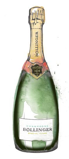 ♡ LINE BOTWIN ♡ hand painted champagne bottle illustration. Commission your very own bottle artwork by clicking the link. Watercolor Sketchbook, Abstract Watercolor, Watercolor And Ink, Watercolor Illustration, Bottle Drawing, Bottle Painting, Bottle Art, Champagne Birthday, Bottle Tattoo
