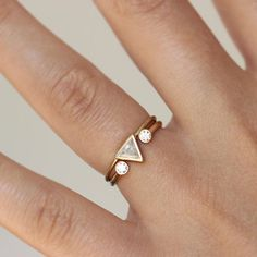 Tower of Hanoi Stackable Rings in Goldfilled by SisterLucy on Etsy, $64.00