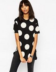 ASOS Oversized Spot Tunic With Side Splits