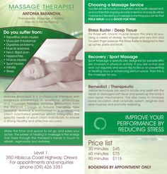 Massage Business Flyer Design  Massage Flyer