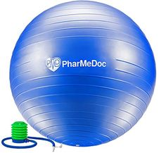 PharMeDoc Exercise Ball with Pump  Gym Quality AntiBurst NonSlip  Tone abs  Perfect for Physical Therapy Pilates Home Fitness Yoga Balance  Personal Training  Swiss  stability birth * Check out this great product. Stability Exercises, Balance Exercises, Fun Workouts, At Home Workouts, Body Workouts, Toned Abs, Pilates Workout, Pilates Yoga, Physical Therapy