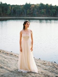 Leanne Marshall gown//Outdoor Autumn Wedding Inspiration