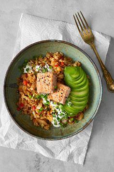 Salmon Recipes, Veggie Recipes, Wine Recipes, Vegetarian Recipes, Healthy Recipes, Wheat Free Recipes, Clean Recipes, Food Hacks, I Foods
