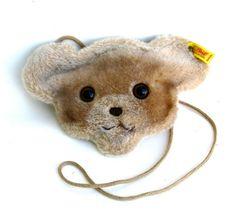Vintage steiff teddy bear bag