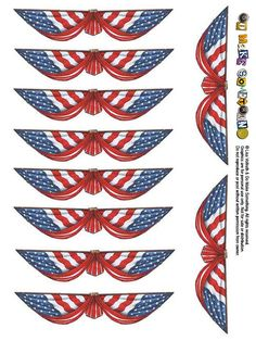 Dollhouse 1:12 Scale Miniature     4th July Patriotic  Poster Print