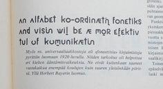 Fonetik alfabet by Herbert Bayer, 1959  #Typography #TypeDesign