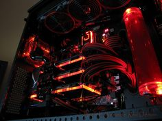 """Gaming Rig from Snef Design codename : """" Extreme RED Demon """" Another view"""