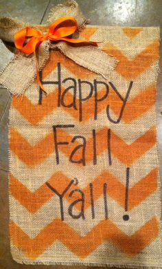 Happy fall yall burlap garden yard flag