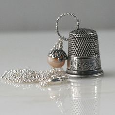 Thimble and Acorn Thimble and Acorn Hidden Kisses Necklace Peter Pan and Wendy so cute :)