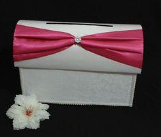 Ba_64. Baul Blanco Futsia para #15años o #bodas