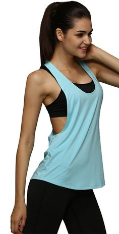 Vest Summer Women Tank Tops Sleeveless Vest Dry Quick  Loose Singlet Solid Color #Compare #Women