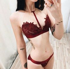 find your inspiration in the category lingerie fashion and trends brale Lingerie Bonita, Lingerie Outfits, Red Lingerie, Pretty Lingerie, Beautiful Lingerie, Luxury Lingerie, Red And Black Lingerie, Trendy Swimwear, Lingerie Collection
