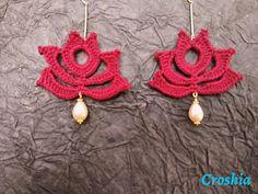 Items similar to Crochet earrings, crochet danglers, handmade Earrings on Etsy