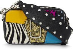 Marc Jacobs Punk Patchwork Leather Snapshot Bag