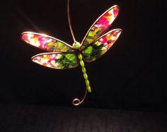 Blue Morpho Butterfly stained glass suncatcher by BirdsAndBugs1