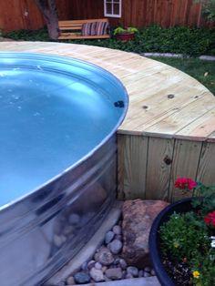 Stock tank pool - side view