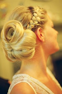 wedding hair | Tumblr  Madi wants a braid some how
