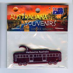 Melbourne Tram, Fridge-Magnet, Bottle-Opener   MATR-RED