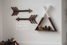 This rustic floating teepee shelf is perfect for any home decor * All of our shelves are hand painted/and or stained on wood. There may be variations in the shelves due to the natural look of the wood. Miss Ginger puppy not included 16x16 depth 3
