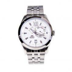 ET0X005W Orient Sporty Automatic White Dial Stainless Steel Band Male Watch