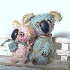 Купить Тедди Коала Каппи - бледно-розовый, коала, тедди, тедди мишка, теддик