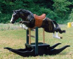 Coolest rocking horse ever! I need to find the credits on this wonderful horse. Equestrian Decor, Equestrian Style, Pretty Horses, Horse Love, Antique Rocking Horse, Rocking Horses, Rocking Chair, Deco Originale, Wooden Horse