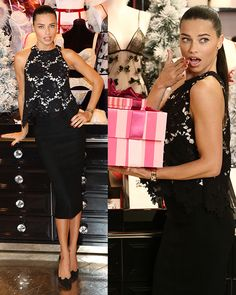 Adriana Lima celebrating Victoria's Secret UK store opening on New Bond Street in London on December 12, 2013