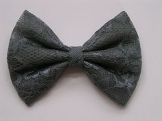 Charcoal Color Lace Hair Bow, hair bows,hairbows,bows for girls,women,lace bow,red bow,bows, gray lace bow on Etsy, $3.99