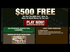 New players to Blackjack Ballroom can take advantage of their 1 hour and $500 free promotion or a 40% matching bonus to a maximum of $400. Casino Promotion, Hobbies And Interests, Online Casino, Free