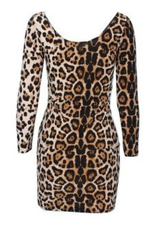 Cheetah Summer All Over Print Dress (w/ Long Sleeves)