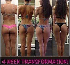 4 week transformation - I would say that she has definitely tightened things up back there. Looks good
