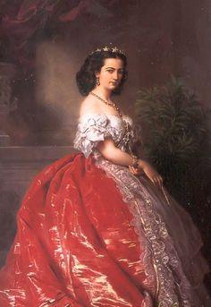 Mathilde Bonaparte by Franz Xaver Winterhalter (location unknown to gogm) | Grand Ladies | gogm