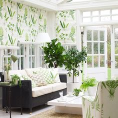 Botanical conservatory fabrics | Conservatory ideas | Conservatory | PHOTO GALLERY | Ideal Home | Housetohome.co.uk
