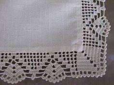 Resultado de imagem para croche em tecido linho