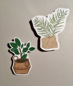 Handmade Plant Stickers - by Ant Rubber Tree, Handmade Bags, Pencil, Stickers, Plants, Craft Gifts, Handmade Handbags, Ficus Elastica, Homemade Bags