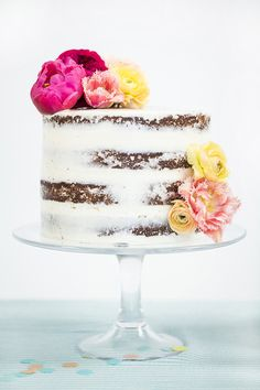 Want to learn how to make a naked cake? @100layercake shows us how.