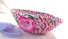 $12 #Pink #Key #Holder #Handmade #Ring #Catcher #Pink #basket #bowl #makeup #holder #jewelry #holder by #Wexford #Treasures
