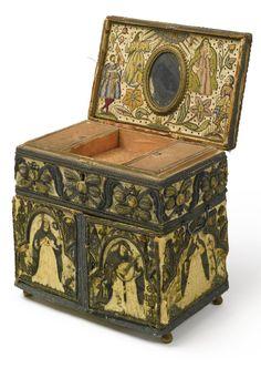 RARE JAMES I NEEDLEWORK CASKET, FIRST QUARTER 17TH CENTURY | lot | Sotheby's