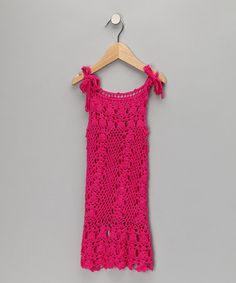 Take a look at this Fuchsia Knit Beach Dress - Toddler & Girls  by H. Maude on #zulily today!