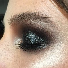 Pretty sparkle-y smokey eye. @thecoveteur