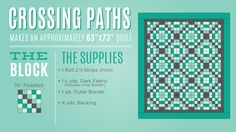 Learn how to make the Crossing Paths Quilt from Missouri Star Quilt Co.