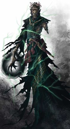 Kazavan the Lich, a powerful undead blood mage demon lord that guarded the Dream Heart Eye in the halls of the Sin Forge. In life, Kazavan was the brother of Praeto Gama, a spirit of Compassion that Thane made allies with, in the Fade.