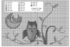 once upon a time. an owl Cross Stitch Owl, Cross Stitch Animals, Cross Stitch Charts, Cross Stitch Patterns, Blackwork, Owl Sewing, Cross Stitch Landscape, Owl Family, Stitch 2