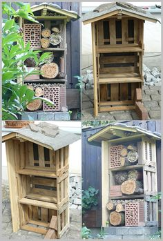 build a bug hotel gardens winter house and ladybug house. Black Bedroom Furniture Sets. Home Design Ideas