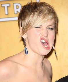Funny Celebrity Face Pictures - Silly Famous People | Celebs, they make the darndest faces. Sometimes the cameras catch 'em just right and the image is spot-on hilarious. See a few of the best ones here! #refinery29 http://www.refinery29.com/funny-celebrity-faces